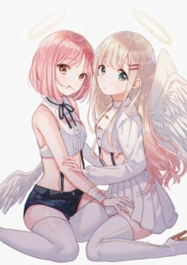 Rating: Safe Score: 27 Tags: angel bandages blood hanako151 heels thighhighs wings User: Mr_GT