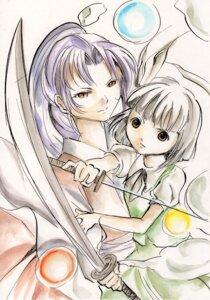 Rating: Safe Score: 2 Tags: konpaku_youmu meira suzaku_mikado sword touhou User: konstargirl