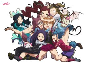 Rating: Questionable Score: 10 Tags: animal_ears megane pantsu souichi tail thighhighs yuri User: Radioactive