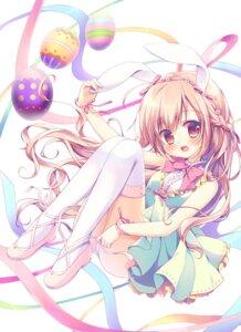 Rating: Safe Score: 49 Tags: animal_ears bunny_ears dress miyasaka_nako pantsu thighhighs User: KazukiNanako