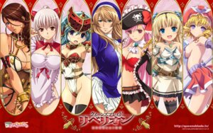 Rating: Questionable Score: 80 Tags: aldra armor branwen breast_hold captain_liliana cleavage dress eilin elf heterochromia laila leotard mirim naked_apron no_bra nopan nun open_shirt pantsu pirate pointy_ears queen's_blade queen's_blade_rebellion sigui stockings thighhighs wallpaper User: Lord_Satorious