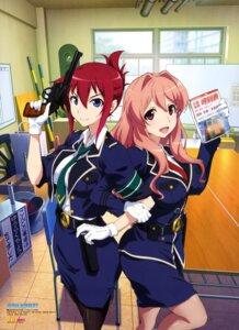 Rating: Safe Score: 70 Tags: gun koumi_haruka pantyhose rail_wars! sakurai_aoi_(rail_wars!) suzuki_kanta uniform User: drop