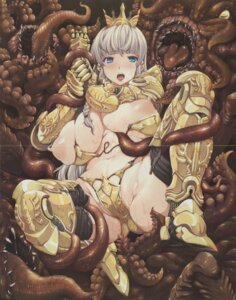 Rating: Questionable Score: 47 Tags: armor breasts crease erect_sawaru nipples pandra screening tentacles thighhighs User: demonbane1349