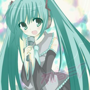 Rating: Safe Score: 7 Tags: emyu hatsune_miku headphones vocaloid User: charunetra