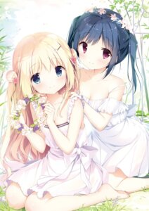 Rating: Questionable Score: 52 Tags: cleavage digital_version dress koi_kakeru_shin-ai_kanojo komari_yui kunimi_nako no_bra see_through shiratama summer_dress us:track User: Twinsenzw