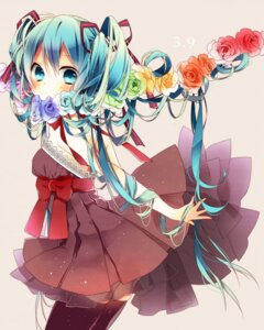 Rating: Safe Score: 41 Tags: dress hatsune_miku naoto thighhighs vocaloid User: Radioactive