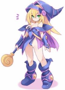Rating: Questionable Score: 17 Tags: cameltoe cleavage dark_magician_girl karukan_(monjya) leotard no_bra weapon yugioh User: Nico-NicoO.M.