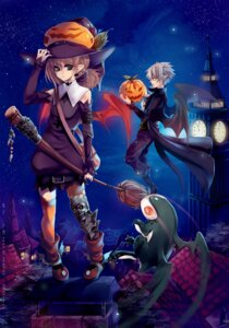 Rating: Safe Score: 18 Tags: halloween thighhighs wings witch yaichino User: Debbie
