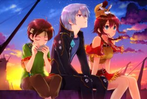 Rating: Safe Score: 19 Tags: amy_(gargantia) bebel grace_(gargantia) kasukabe_akira ledo suisei_no_gargantia User: drop