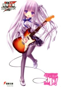 Rating: Safe Score: 63 Tags: card dress goto_jun guitar heels pantyhose tenshi_no_three_piece! tinkle User: RICO740