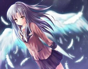Rating: Safe Score: 19 Tags: angel_beats! hane_riu seifuku tenshi wings User: Radioactive
