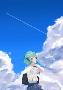 Rating: Safe Score: 8 Tags: hololive landscape mashiro seifuku uruha_rushia User: whitespace1