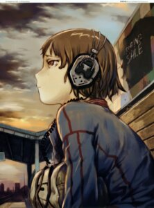 Rating: Safe Score: 10 Tags: abe_yoshitoshi crease fixme headphones User: Aurelia