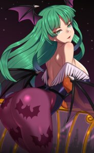 Rating: Safe Score: 32 Tags: ass dark_stalkers leotard morrigan_aensland no_bra nt00 pantyhose wings User: Qpax