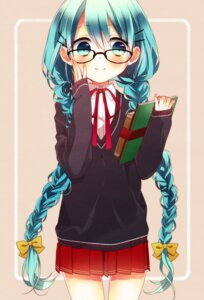 Rating: Safe Score: 36 Tags: hatsune_miku megane naoto seifuku vocaloid User: Radioactive