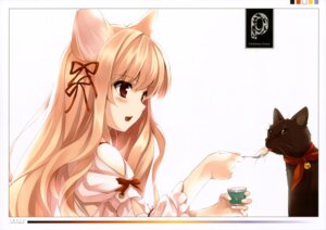 Rating: Safe Score: 80 Tags: animal_ears kuroya_shinobu neko nekomimi puffsleeve User: midzki