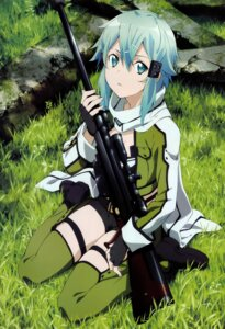Rating: Safe Score: 60 Tags: gun gun_gale_online ochiai_hitomi possible_duplicate sinon sword_art_online thighhighs User: Cyberbeing