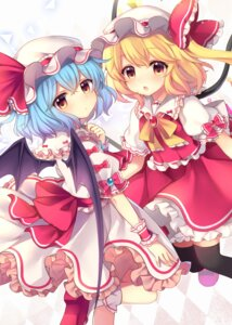 Rating: Safe Score: 40 Tags: flandre_scarlet remilia_scarlet ruhika thighhighs touhou wings User: Mr_GT