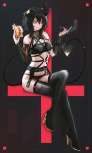 Rating: Safe Score: 16 Tags: ehrrr heels horns pantsu stockings tail thighhighs User: Mr_GT