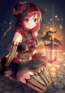 Rating: Safe Score: 56 Tags: fishnets love_live! murakami_yuichi nishikino_maki thighhighs User: Mr_GT