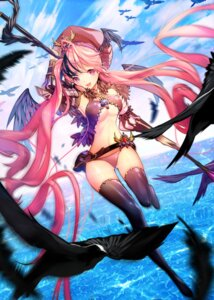 Rating: Questionable Score: 93 Tags: bikini sukja swimsuits thighhighs underboob weapon wings User: Hentar