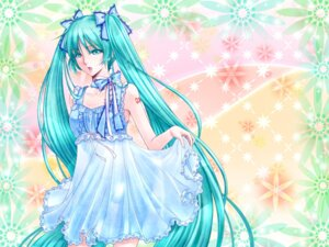 Rating: Safe Score: 8 Tags: dress hatsune_miku summer_dress totono vocaloid User: Radioactive