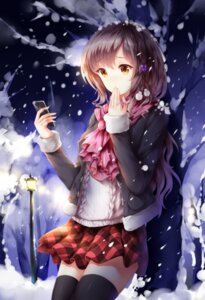 Rating: Safe Score: 42 Tags: seifuku sweater thighhighs wsman User: mash