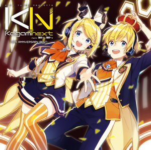 Rating: Safe Score: 17 Tags: disc_cover headphones kagamine_len kagamine_rin thighhighs vocaloid User: saemonnokami