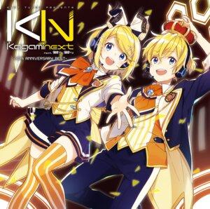 Rating: Safe Score: 17 Tags: disc_cover headphones kagamine_len kagamine_rin thighhighs vocaloid User: saemonnokami