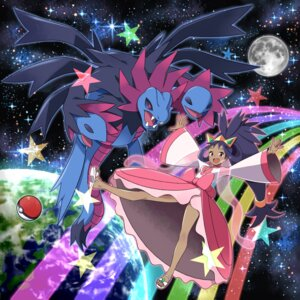 Rating: Safe Score: 25 Tags: dress hydreigon iris_(pokemon) pokemon pokemon_black_and_white_2 tm_(hanamakisan) User: Mr_GT
