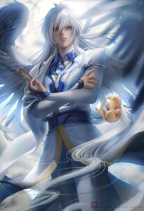 Rating: Safe Score: 14 Tags: card_captor_sakura kero male official_watermark sakimichan wings yue User: charunetra