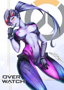 Rating: Questionable Score: 59 Tags: bodysuit maebari no_bra nopan open_shirt overwatch signed undressing widowmaker User: Mr_GT
