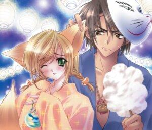 Rating: Safe Score: 17 Tags: carnelian kitsune tail yukata User: milksakura