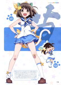 Rating: Questionable Score: 37 Tags: animal_ears chibi etotama koike_satoshi nekomimi nyaa-tan seifuku tail takahashi_asami User: drop