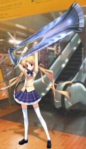 Rating: Safe Score: 13 Tags: chaos;head game_cg matsuo_yukihiro orihara_kozue seifuku sword thighhighs User: xxyxareo