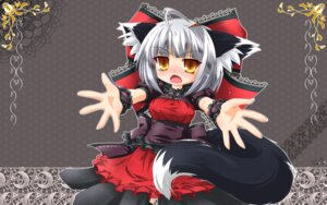 Rating: Safe Score: 7 Tags: animal_ears kazami_karasu nekomimi tail wallpaper User: Shamensyth