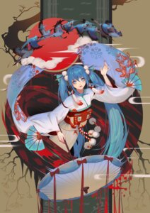 Rating: Safe Score: 61 Tags: hatsune_miku japanese_clothes lian_yao umbrella vocaloid User: Mr_GT