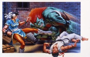 Rating: Safe Score: 4 Tags: blanka capcom chun_li dress pantyhose ryuu street_fighter street_fighter_ii User: Yokaiou