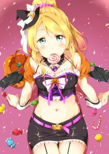 Rating: Safe Score: 68 Tags: ayase_eli cleavage halloween ksk_(semicha_keisuke) love_live! stockings thighhighs wings User: Mr_GT