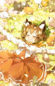 Rating: Safe Score: 12 Tags: animal_ears chen ikeda_p-rou neko touhou User: Mr_GT