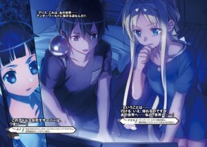 Rating: Safe Score: 30 Tags: abec alice_schuberg digital_version kirito sword_art_online yui_(sword_art_online) User: kiyoe