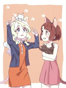 Rating: Safe Score: 25 Tags: animal_ears atsuko_kagari diana_cavendish dress little_witch_academia neko nekomimi summer_dress tail tama_(sin05g) User: nphuongsun93