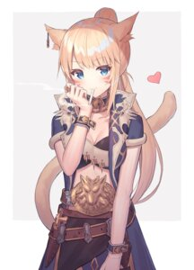 Rating: Questionable Score: 35 Tags: 5ya animal_ears armor cleavage smoking tail User: sym455