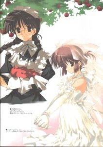 Rating: Safe Score: 4 Tags: dress maid megane mitsumi_misato screening wedding_dress User: aoie_emesai