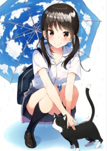 Rating: Safe Score: 100 Tags: bra neko pantsu sakuragi_ren seifuku umbrella User: Mr_GT