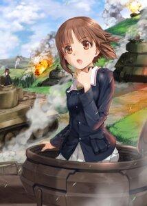 Rating: Safe Score: 34 Tags: girls_und_panzer katyusha kay_(girls_und_panzer) mikazuki_akira nishizumi_maho nishizumi_miho seifuku uniform User: Mr_GT