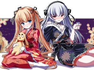 Rating: Safe Score: 11 Tags: cleavage kimono kunkun rozen_maiden shinku shinshin suigintou wallpaper User: yumichi-sama