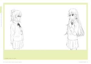 Rating: Safe Score: 4 Tags: monochrome ponkan_8 seifuku sketch thighhighs yahari_ore_no_seishun_lovecome_wa_machigatteiru. yuigahama_yui yukinoshita_yukino User: fireattack