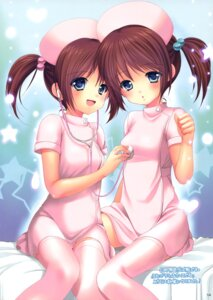 Rating: Questionable Score: 34 Tags: azuma_yuki imomuya_honpo nurse singleton thighhighs User: Twinsenzw