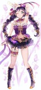 Rating: Safe Score: 29 Tags: cleavage garter heels love_live! shirokagi_tsukito toujou_nozomi User: Mr_GT